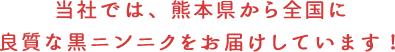 当社では、熊本県から全国に良質な黒ニンニクをお届けしています!